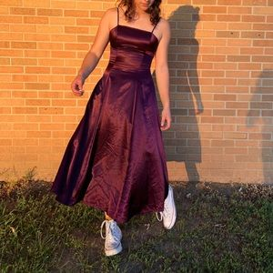 Vintage handmade purple prom dress